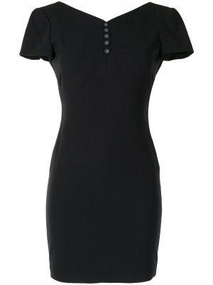 Платье мини с короткими рукавами Chanel Pre-Owned. Цвет: черный