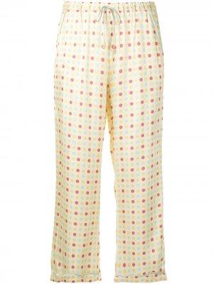 Пижамные брюки Petal Morgan Lane. Цвет: желтый