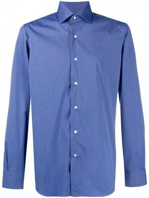 Рубашка с длинными рукавами Barba. Цвет: синий
