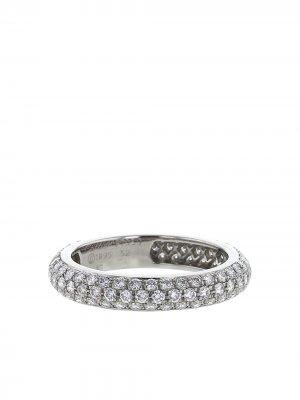 Кольцо Mimi 1995-го года из платины с бриллиантами pre-owned Cartier. Цвет: серебристый