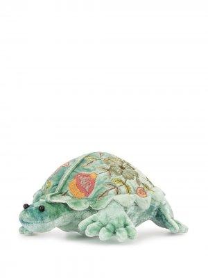 Мягкая игрушка в виде черепахи с вышивкой Anke Drechsel. Цвет: зеленый