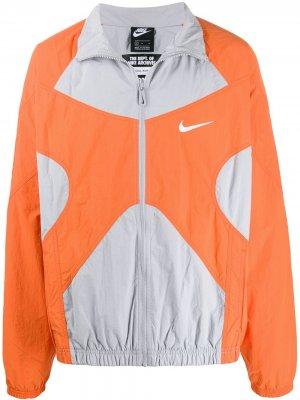 Спортивная куртка Nike. Цвет: серый