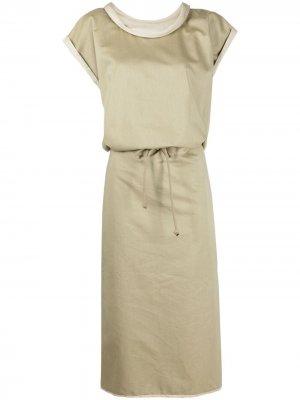 Платье с завязками Lemaire. Цвет: нейтральные цвета