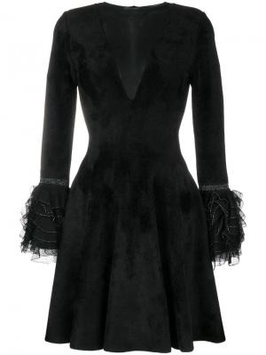 Ruffled cuff flared dress Antonino Valenti. Цвет: черный