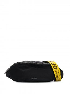 Поясная сумка Basic Off-White. Цвет: черный
