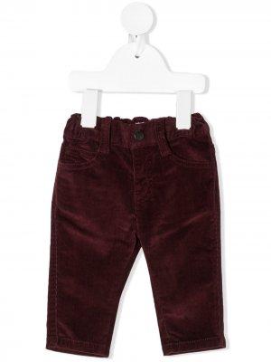 Вельветовые брюки прямого кроя Emporio Armani Kids. Цвет: красный