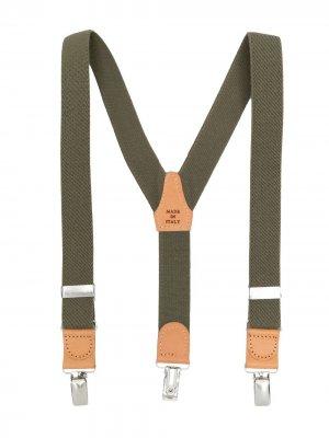 Подтяжки с контрастными вставками Il Gufo. Цвет: зеленый
