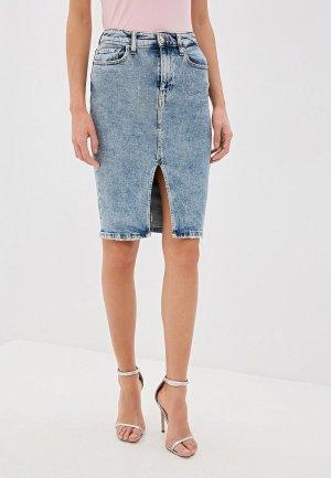 Юбка джинсовая Guess Jeans. Цвет: голубой