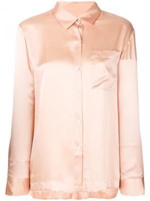 Пижамный топ на пуговицах Asceno. Цвет: розовый и фиолетовый