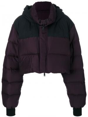 Дутая укороченная куртка UNRAVEL PROJECT. Цвет: розовый