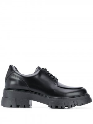 Туфли на платформе со шнуровкой Ash. Цвет: черный