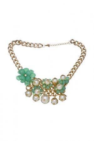 Ожерелье Victoria Le Land. Цвет: зеленый