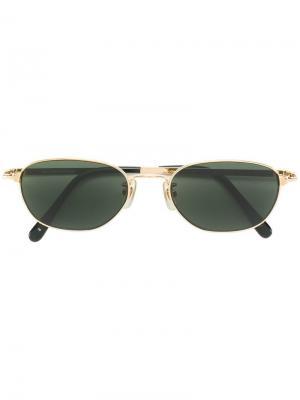 Овальные солнцезащитные очки JC de Castelbajac Pre-Owned. Цвет: черный