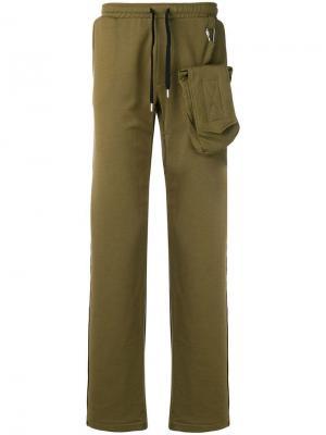 Спортивные брюки со съемной сумкой Matthew Miller. Цвет: зеленый