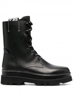 Ботинки Stone на шнуровке Ash. Цвет: черный