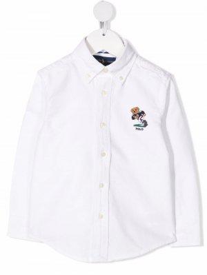 Рубашка Polo Bear на пуговицах Ralph Lauren Kids. Цвет: белый