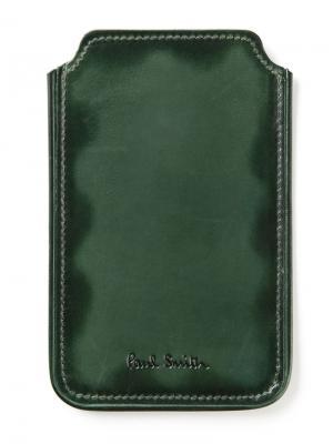 Чехол для смартфона PAUL SMITH. Цвет: зеленый