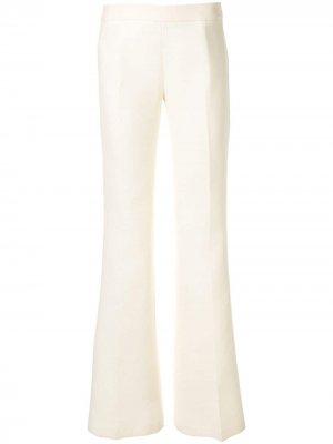 Расклешенные брюки средней посадки Giambattista Valli. Цвет: белый