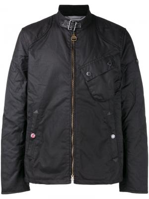 Куртка с застежкой на молнии Barbour. Цвет: черный