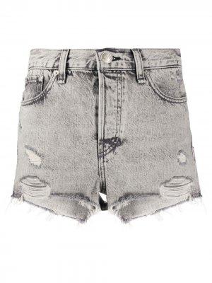 Джинсовые шорты с эффектом потертости Rag & Bone. Цвет: ashgrey