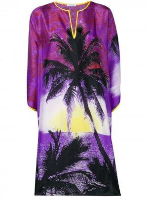 Платье-туника с принтом P.A.R.O.S.H.. Цвет: фиолетовый