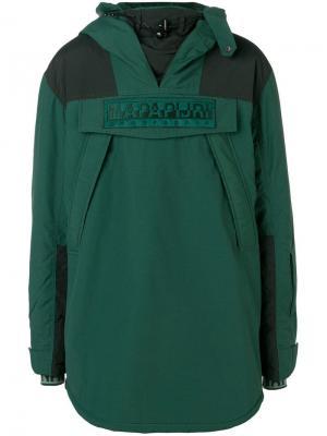 Oversized padded jacket Napapijri. Цвет: зеленый