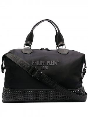 Дорожная сумка PP1978 среднего размера Philipp Plein. Цвет: черный