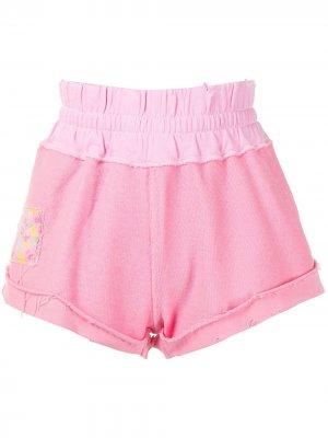 Спортивные шорты с нашивкой LoveShackFancy. Цвет: розовый