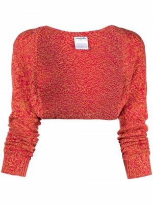 Кашемировый кардиган-болеро 2010-х годов Chanel Pre-Owned. Цвет: красный