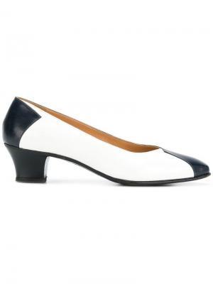 Туфли со вставками Céline Vintage. Цвет: синий