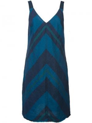 Расклешенное платье с принтом Trina Turk. Цвет: синий