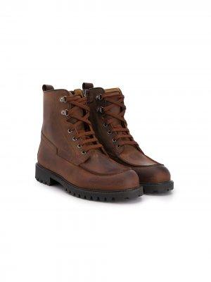 Ботинки карго Gallucci Kids. Цвет: коричневый