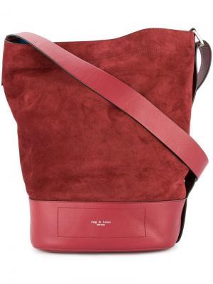 Большая сумка на плечо с логотипом Rag & Bone. Цвет: красный