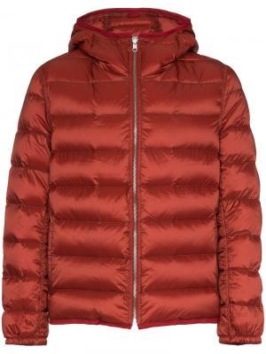 Дутая куртка с капюшоном Ten C. Цвет: красный