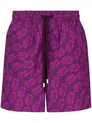 Плавки-шорты Moorea с принтом Vilebrequin. Цвет: розовый
