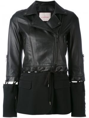 Куртка с тканевой вставкой A.F.Vandevorst. Цвет: чёрный