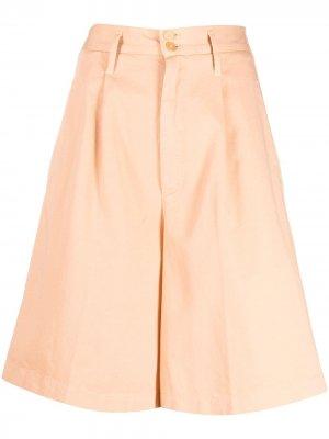 Шорты-кюлоты с карманами Forte. Цвет: оранжевый