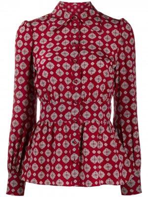 Рубашка с принтом и баской Michael Kors. Цвет: красный