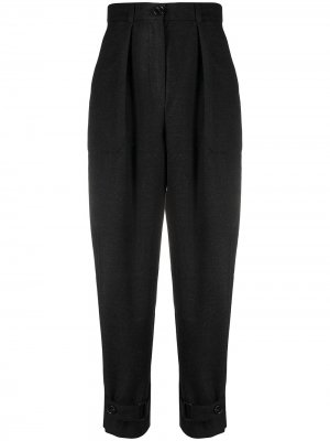 Зауженные брюки с завышенной талией 12 STOREEZ. Цвет: серый
