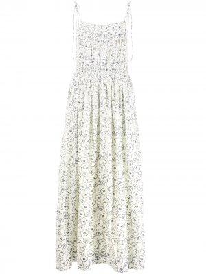 Платье Cecile с цветочным принтом Apiece Apart. Цвет: белый