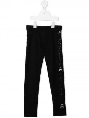 Легинсы с логотипом Calvin Klein Kids. Цвет: черный
