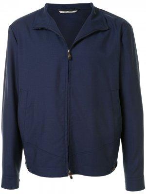 Легкая куртка с воротником-стойкой Colombo. Цвет: синий