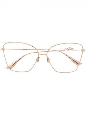 Очки в массивной оправе Dior Eyewear. Цвет: золотистый