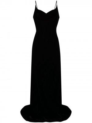Вечернее платье с запахом Parlor. Цвет: черный