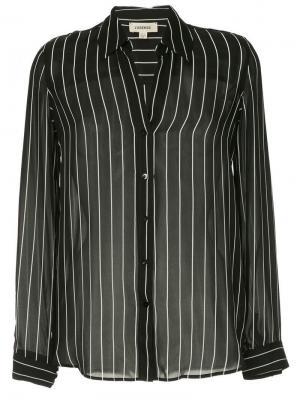 Блузка в полоску L'agence. Цвет: черный