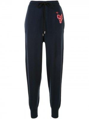 Спортивные брюки с пайетками Markus Lupfer. Цвет: синий