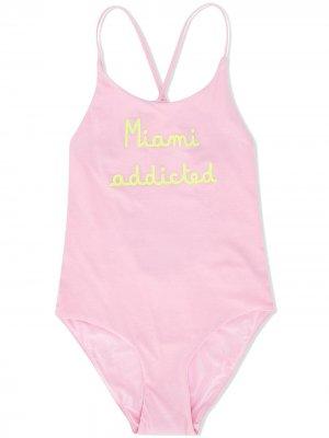 Купальник Miami с принтом Mc2 Saint Barth Kids. Цвет: розовый