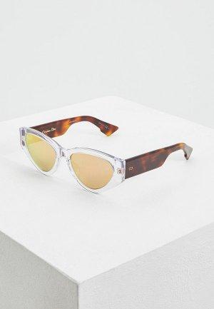Очки солнцезащитные Christian Dior. Цвет: прозрачный