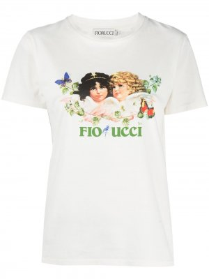 Футболка Woodland Angels с принтом Fiorucci. Цвет: белый