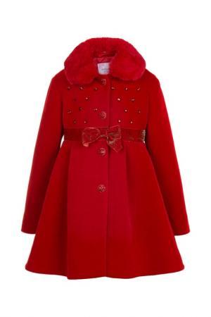 Пальто Белоснежка STILNYASHKA. Цвет: красный